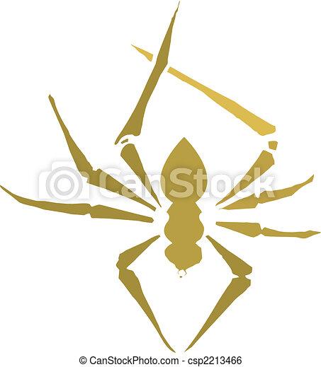 Spider Silhouette - csp2213466