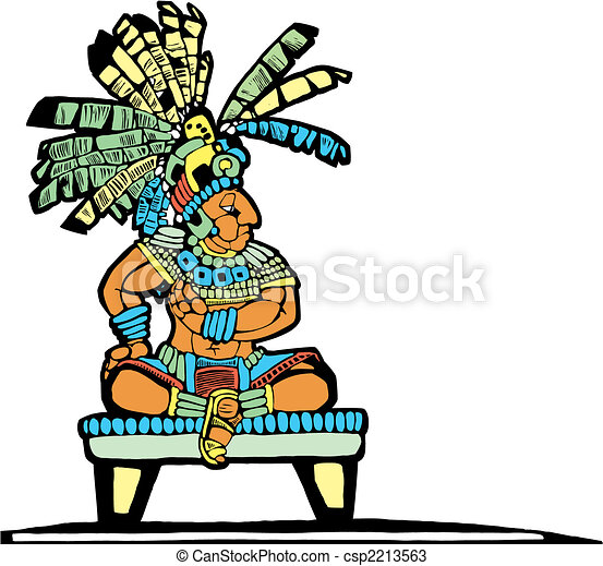 Mayan King designed after Mesoamerican... csp2213563 - Search Clip Art ...
