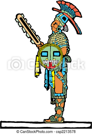 Mayan warrior designed after Mesoamerican... csp2213578 - Search Clip ...