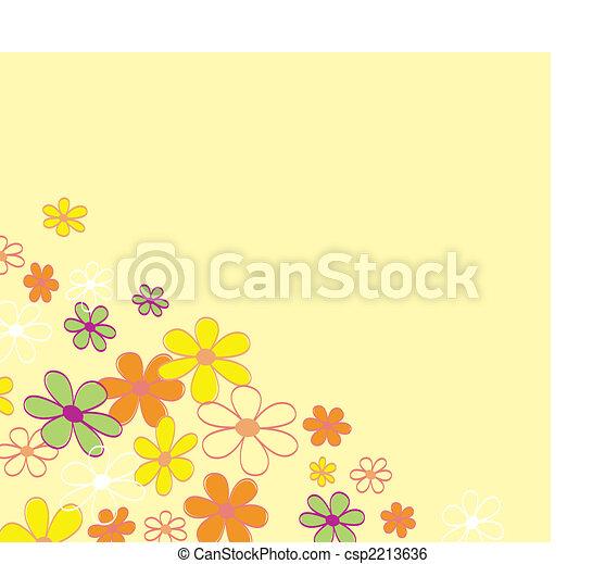 Retro flower background texture - csp2213636