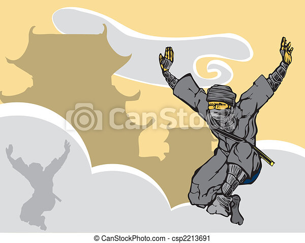 Leaping Ninja - csp2213691