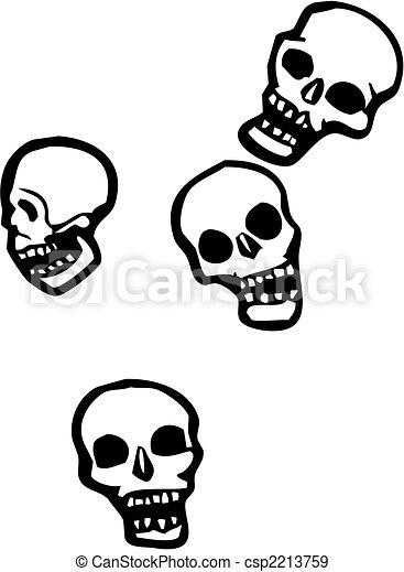 Falling skulls - csp2213759