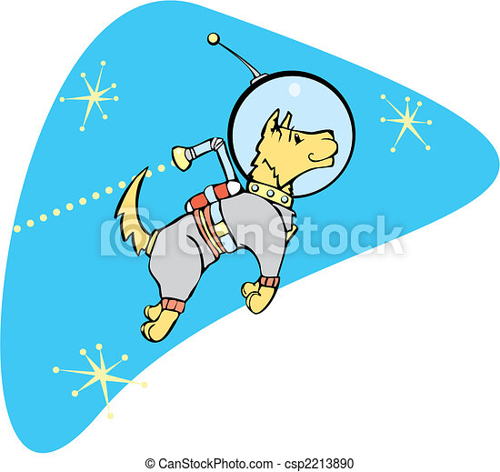 Space dog clipart vector - spacedog with jetpack