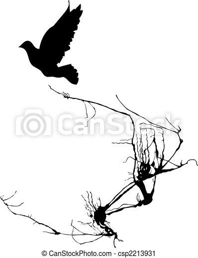 Bird Takes Wing - csp2213931