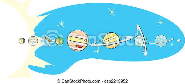 Retro Solar System Map - csp2213952