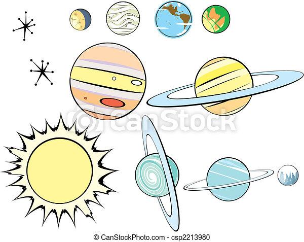 Retro Solar System Group  - csp2213980