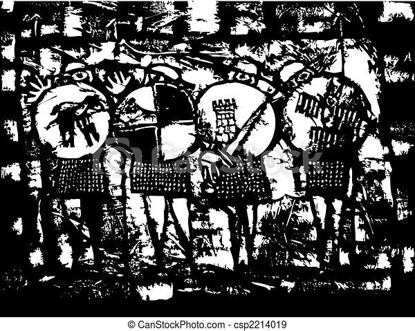 Four Saxon Knights - csp2214019