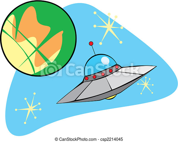 Retro Flying Saucer - csp2214045