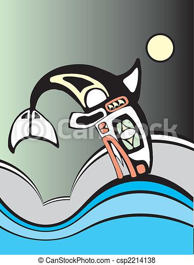 Diving Killer Whale - csp2214138