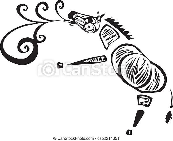 Singing Zebra - csp2214351