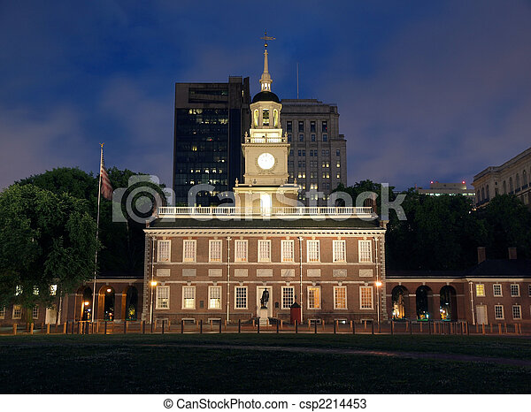 Independence Hall Night - csp2214453