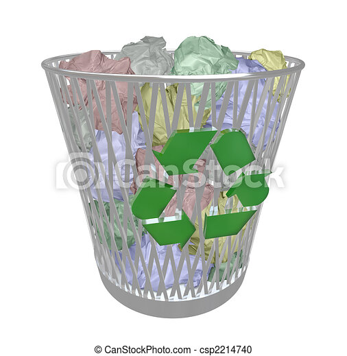 Recycle Bin - Colored Paper - csp2214740