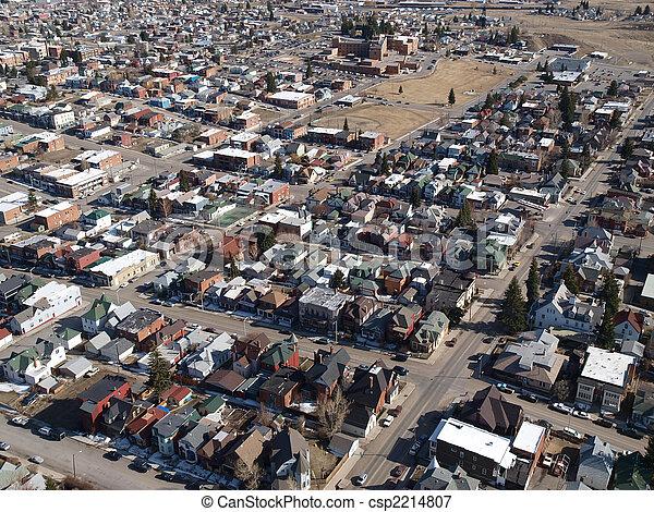 Butte Montana Aerial - csp2214807