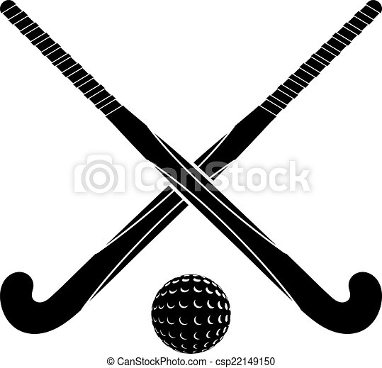 Clip Art Field Hockey Clipart field hockey illustrations and clipart 1322 royalty two black silhouettes sticks for ball on a