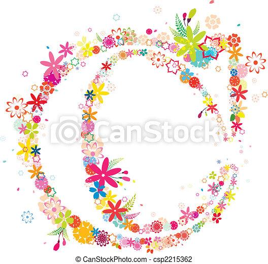 blossomy letter C - csp2215362