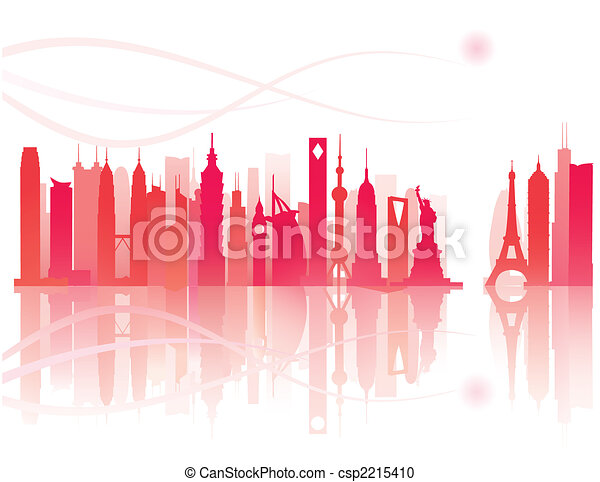 worldwide landmarks view - csp2215410