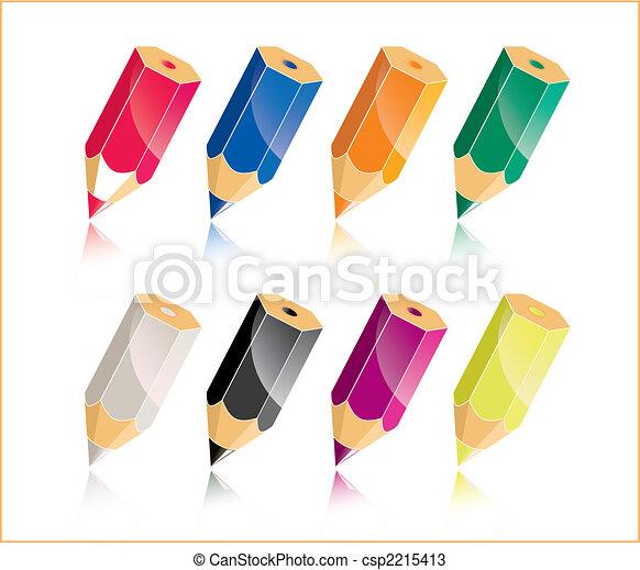 colorful pencil - csp2215413