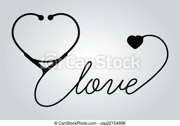 Eps Vectores De Coraz 243 N Estetoscopio Amor Estetoscopio