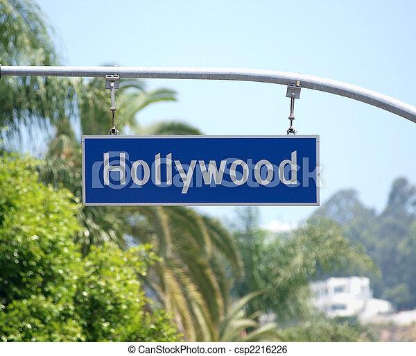 Hollywood Blvd Sign - csp2216226