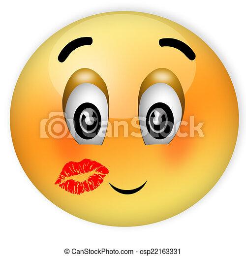 Dessins de surpris baiser surpris a kiss smiley a l vre csp22163331 - Image de smiley a imprimer ...