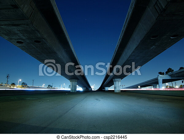 Hollywood Freeway Bridges - csp2216445