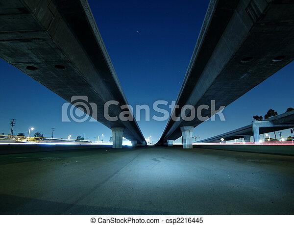 Hollywood Freeway Bridges - csp2216445