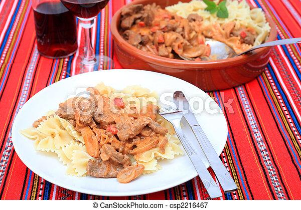 Beef stroganoff meal horizontal - csp2216467