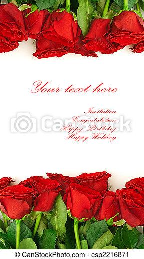 red roses border - csp2216871