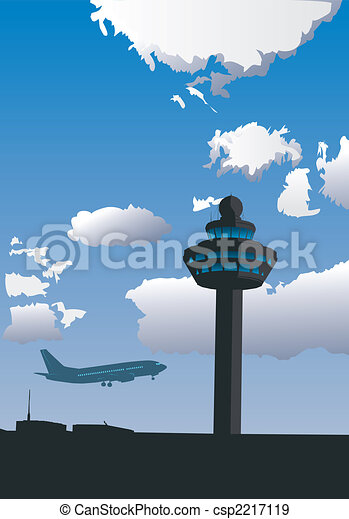 Airport Control Tower - csp2217119