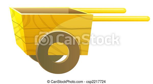 wood cart - csp2217724