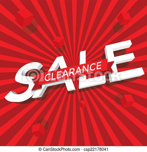 Sale clearance vector - csp22178041