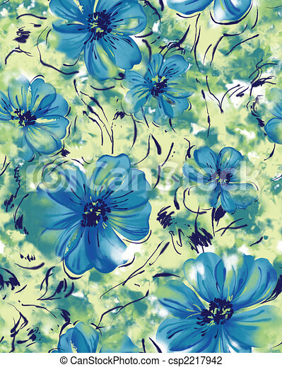 Seamless repeat tropical flower - csp2217942