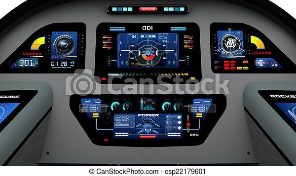 Archivio illustrazioni di cabina pilotaggio immagine di for Piani di cabina 20x20