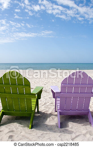 sommer, sandstrand, urlaub - csp2218485