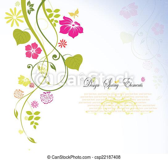 Frühlingsblume, Hintergrund Vektor