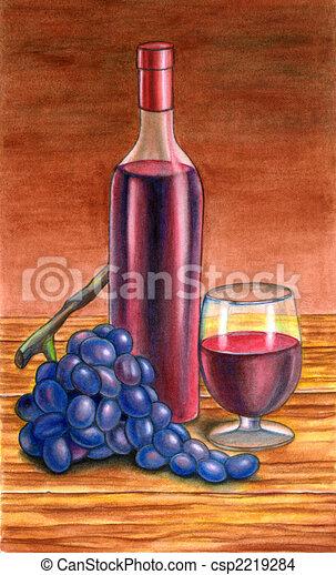 Grape and wine - csp2219284