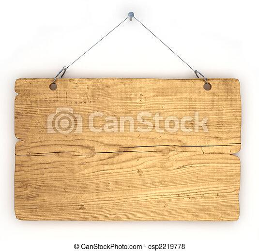 Old wood notice board - csp2219778