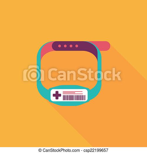 Armband clipart  Clipart Vektor von wohnung, patient, armband, langer, schatten ...