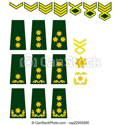 Stock Illustration of Georgian armed forces insignia - Military ...