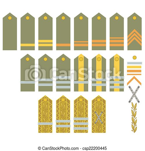 Drawing of Insignia of the Romanian Army - Military ranks and ...