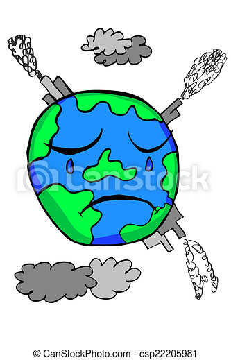 Vecteur - griffonnage, -, La terre, pollution - Banque d'illustrations ...
