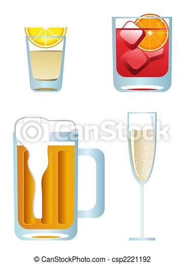 Alcoholic Drinks - csp2221192