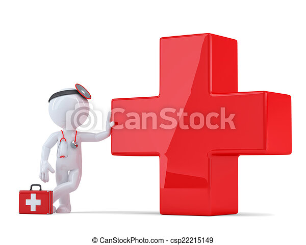 Clip Art of Medical announcement. Isolated - Doctor with megaphone ...