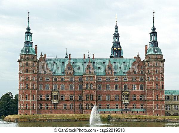 Frederiksborg Castle located in Hillerød, Denmark
