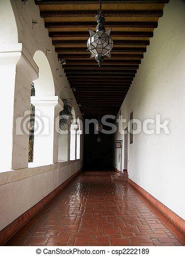 Exterior hall of Historic Santa Barbara Courthouse - csp2222189