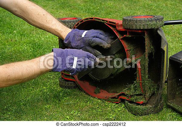 lawn mower 02 - csp2222412