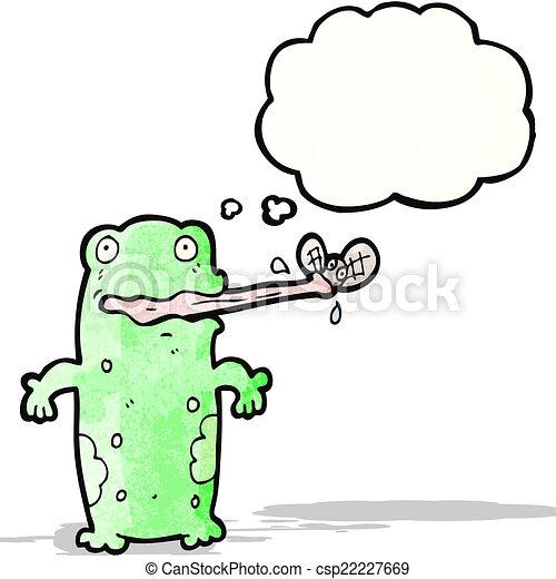 Fly Cartoon Drawing Cartoon Frog Eating Fly