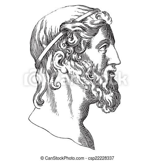 Aristotle - Royalty Free Vector EPS - csp22228337