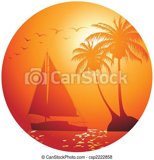 Yacht on the ocean - csp2222858
