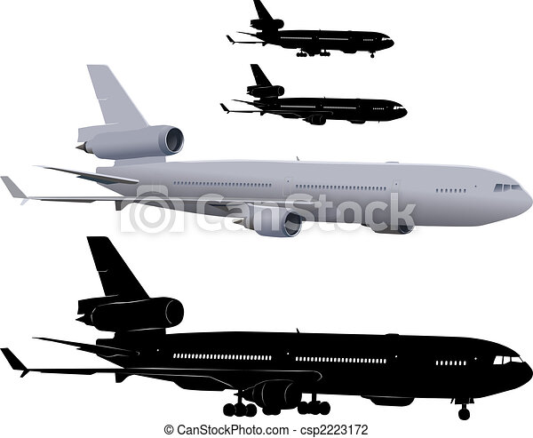 Passenger airliner - csp2223172
